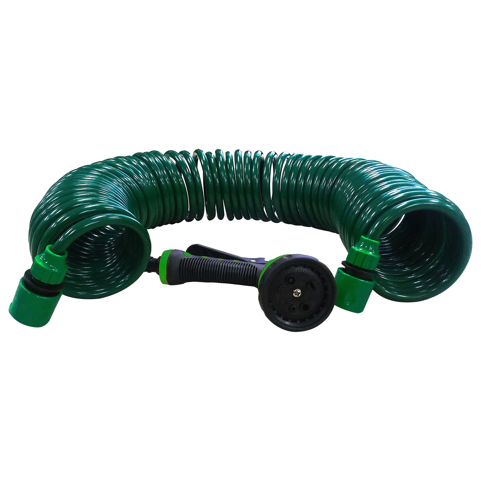 Picture 1 of 2 ...  sc 1 st  eBay & 50ft Garden Hose Expanding Water Coil Flexible Expandable ...
