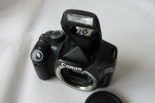 Canon EOS 550D 18.0MP Digital-SLR DSLR Camera (Camcorder) Body Only - BLACK