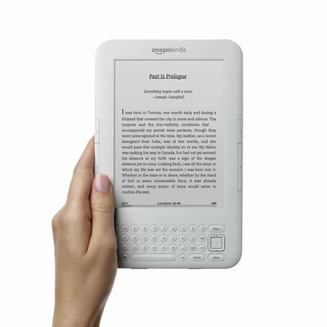 "Kindle Keyboard 3G, Free 3G + Wi-Fi, 6"" E Ink Display (3rd Gen, White)"