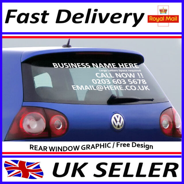 Car rear window stickers advertising vinyl lettering graphics decals 600 400