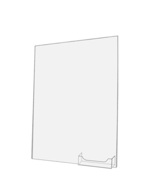 Wall Mount AD Frame Sign Holder W/ Card Pocket 11 X 14 Inch () | eBay
