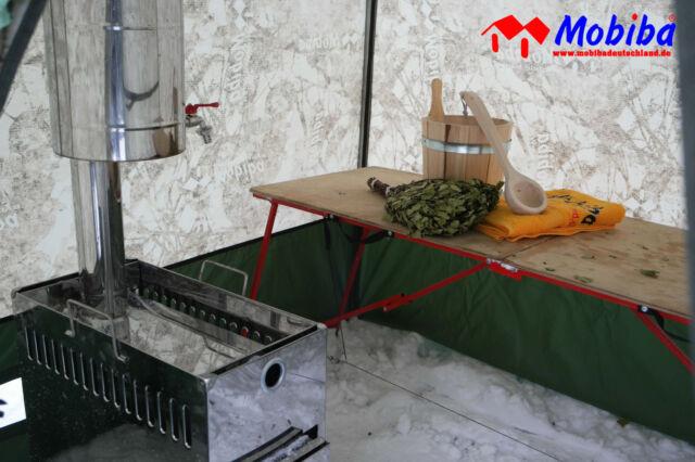 mobile sauna zeltsauna gartensauna mobiba mb 10. Black Bedroom Furniture Sets. Home Design Ideas