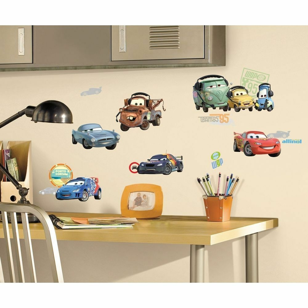 26 pc disney pixar cars 2 wall stickers lightning mcqueen tow picture 1 of 2 amipublicfo Gallery