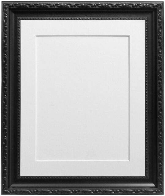 Black Shabby Chic Photo Picture Frames With a Selection of Coloured ...