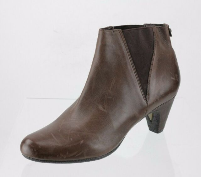 Women's Sam Edelman Morillo Brown Leather Ankle Boots Heels Size 8.5 M NEW