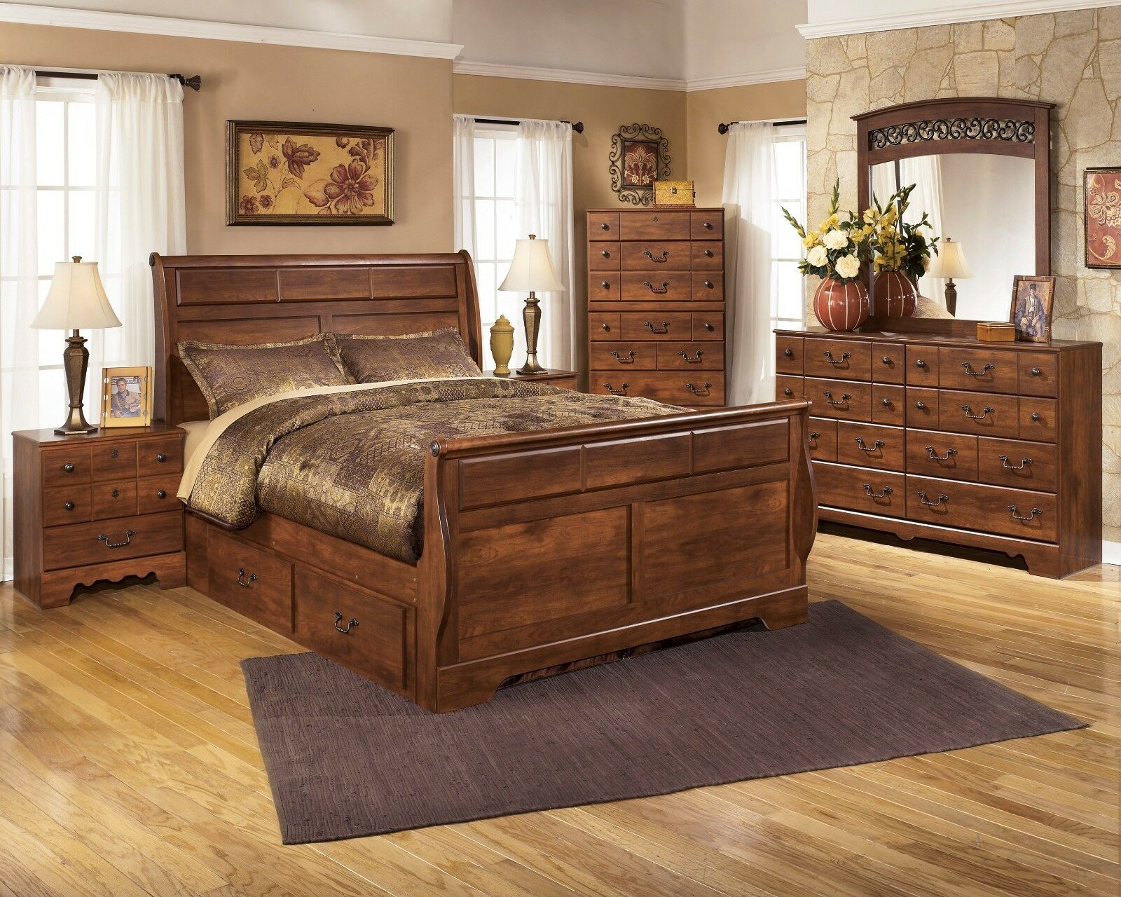 Bedroom set sleigh - Picture 1 Of 6