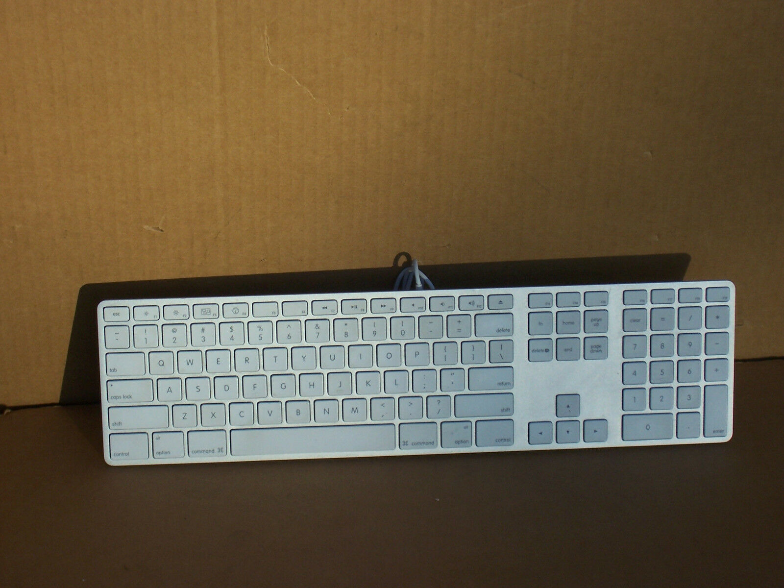 Apple A1243 Ultra Thin Aluminum USB Wired Keyboard With Numeric ...