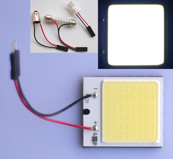 Auto COB Chip 48-LED Panel Licht T10 Leselicht Festoon Weiß Innenlicht Lampe 12V