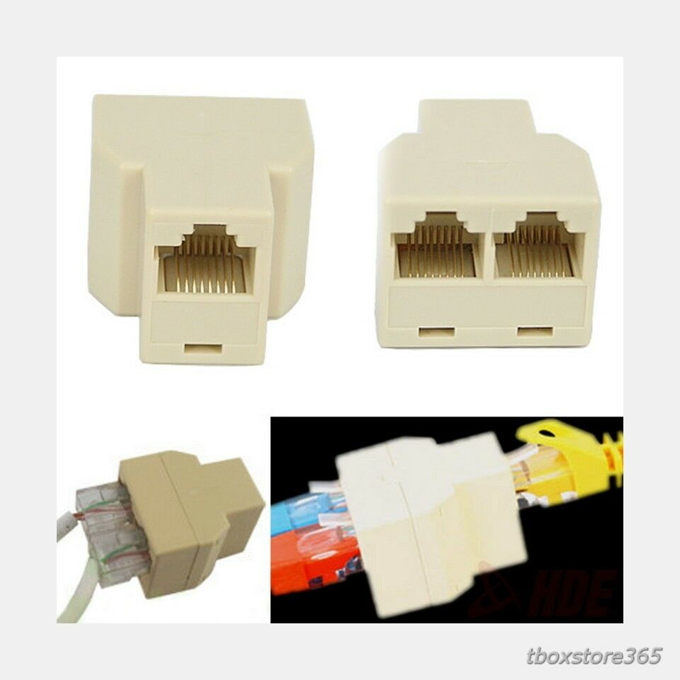Ethernet Cable Splitter Rj45 Cat 5 6 Lan Port 1 To 2 Socket Wiring Diagram Wall Jack Keystone Prise Picture Of 11