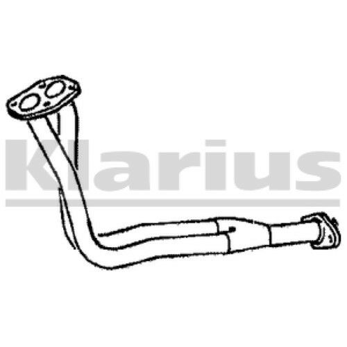1x KLARIUS OE Quality Replacement Exhaust Pipe Exhaust For FIAT Petrol