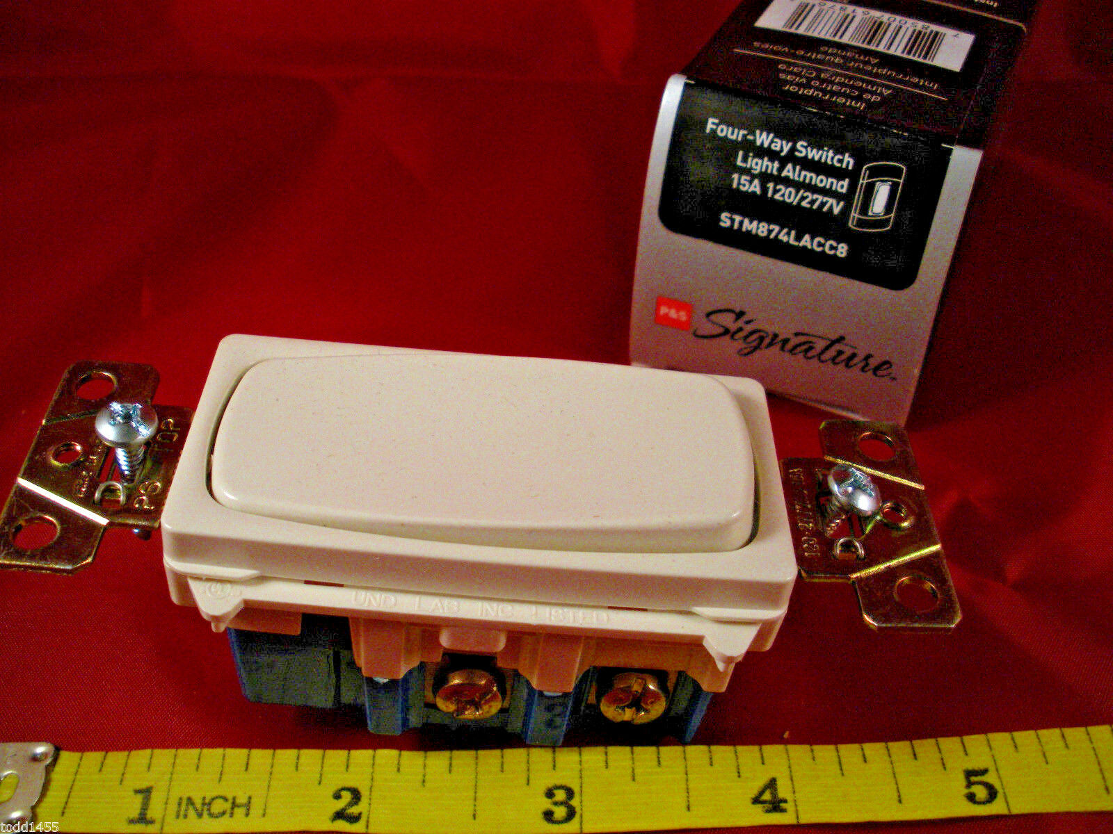 Pass Seymour 4 Way Rocker Decorator Switch Light Almond 15a 120 2 Legrand Picture 1 Of
