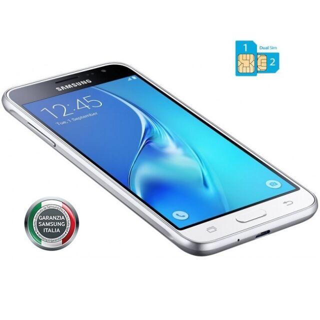 Smartphone Samsung J3 2016 WHITE DUAL SIM 4G Gar 24 Mesi Nuovo J320 + FODERO TPU