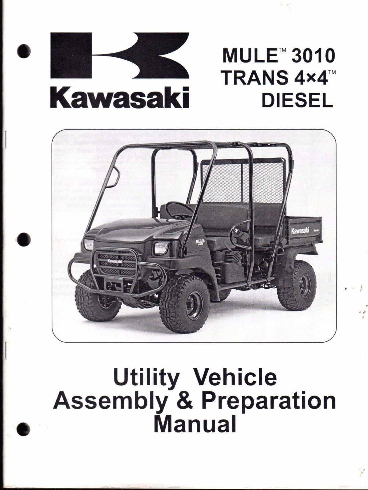 kawasaki mule 3010 trans 4x4 diesel 2007 manual ebay rh ebay com Kawasaki Mule 2510 Kawasaki Mule 2520