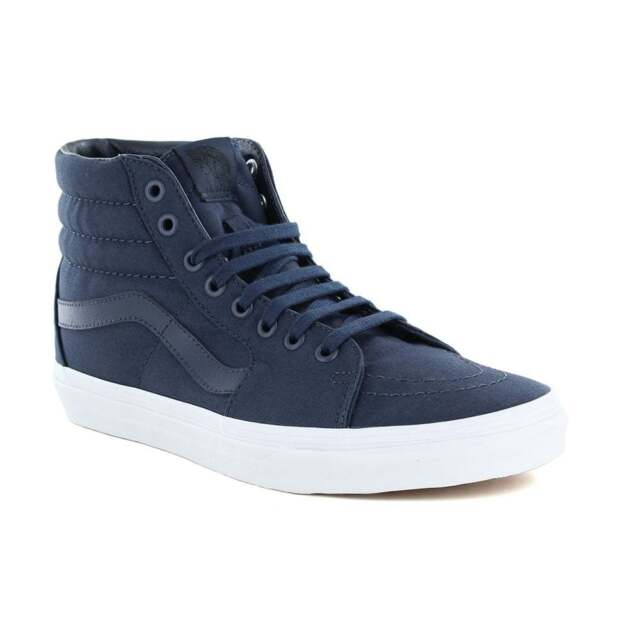 Vans Sk8Hi MONO tela. Dress Blues/True White.