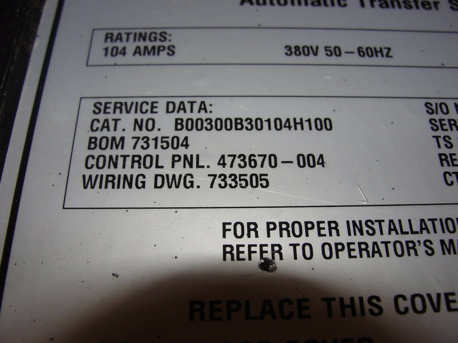 Asco Series 300 Automatic Transfer Switch 380v 50 60hz 3 Phase On Wiring 1