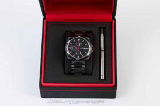 bmw watch genuine m black chronograph wristwatch 2016 18. Black Bedroom Furniture Sets. Home Design Ideas