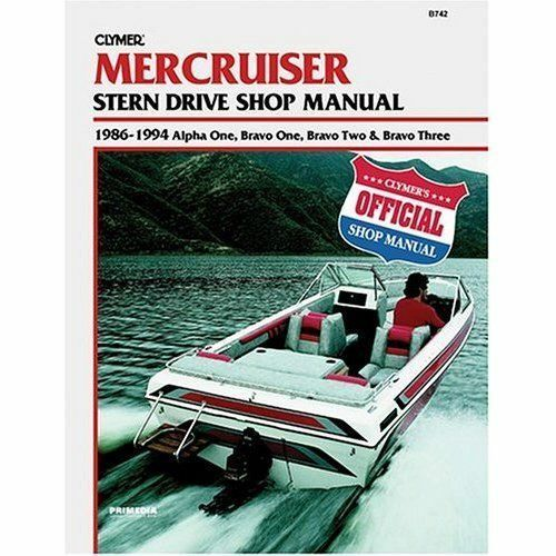 clymer mercruiser stern drive shop manual 86 94 alpha bravo one two rh ebay com alpha one sterndrive service manual mercruiser alpha one repair manual pdf