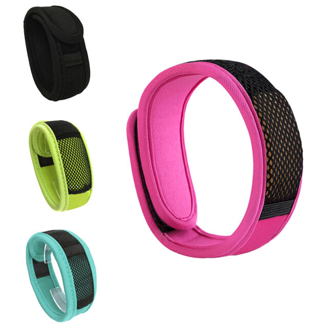 Anti Mosquito Bug Insect Repellent Bracelet Wrist Band 2 Repellent Refills New.*