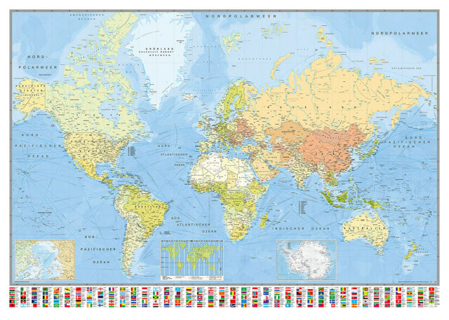 World map poster huge 140x100cm 140 x 100 cm ebay world map poster huge 140x100cm 140 x 100 cm gumiabroncs Gallery