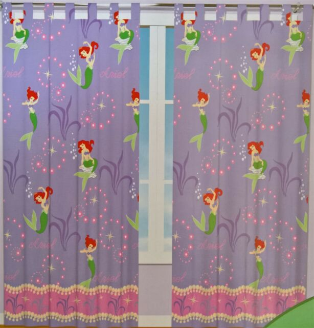 Disney Princess   ARIEL LITTLE MERMAID READY TO HANG TAB TOP CURTAINS BLINDS