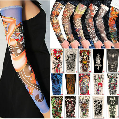 6pcs tattoo sleeve mix nylon stretchy temporary sleeves for How to blend tattoos into a sleeve
