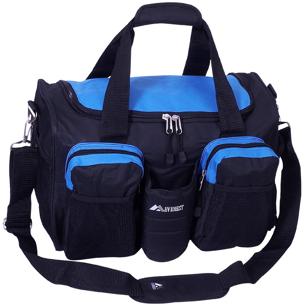 Everest Gym Bag With Wet Pocket 4 Colors All Purpose Duffel Blue