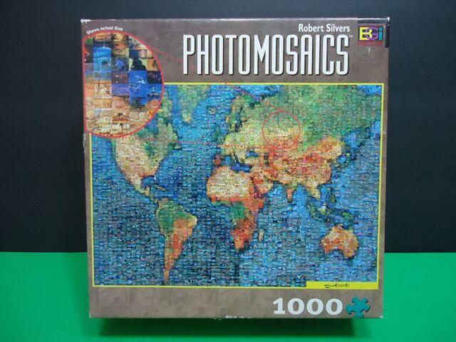 Photomosaics puzzle earth map 1000 pieces robert silvers poster photomosaics puzzle earth map 1000 pieces robert silvers poster ages 12 up gumiabroncs Gallery