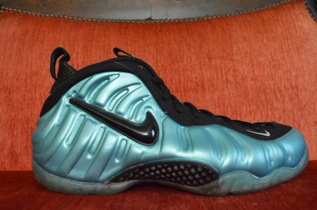 Nike Air Foamposite Pro Electric Blue South Beach Size 10.5