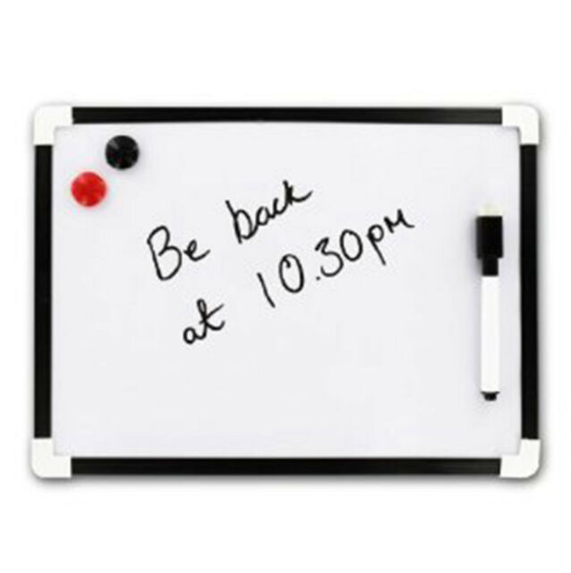 A Dry Wipe Magnetic Whiteboard Mini Office Notice Memo White Board