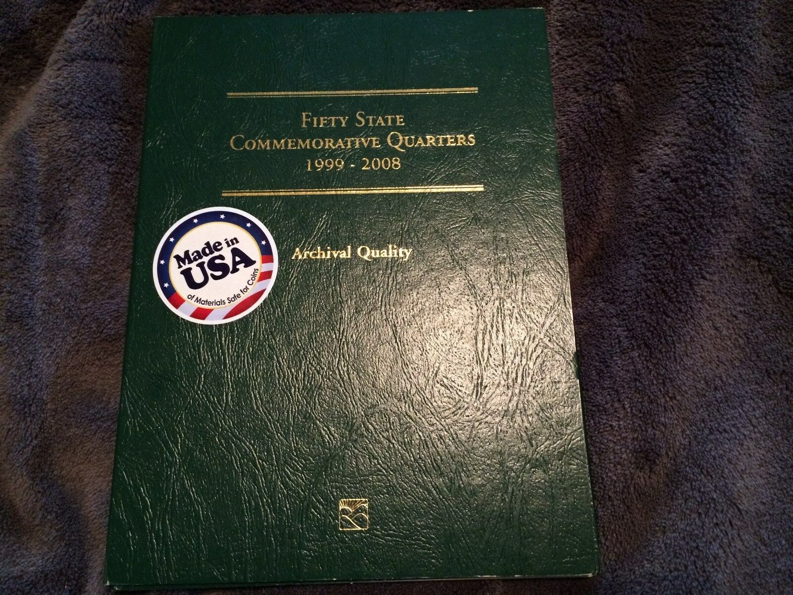 US State Quarters Complete Set Littleton Album - Complete 50 state quarter set