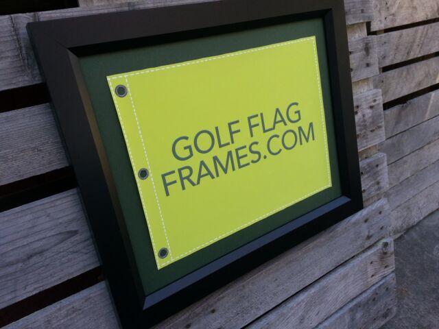 17x23 Black Golf Flag Frame Moulding Blk-003 Reversible Green-black ...