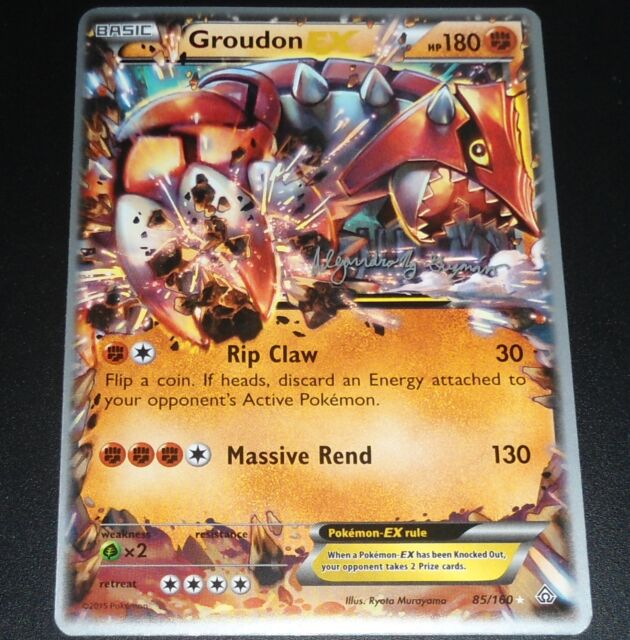 Groudon EX 85/160 World Championship PROMO Pokemon Card NEAR MINT