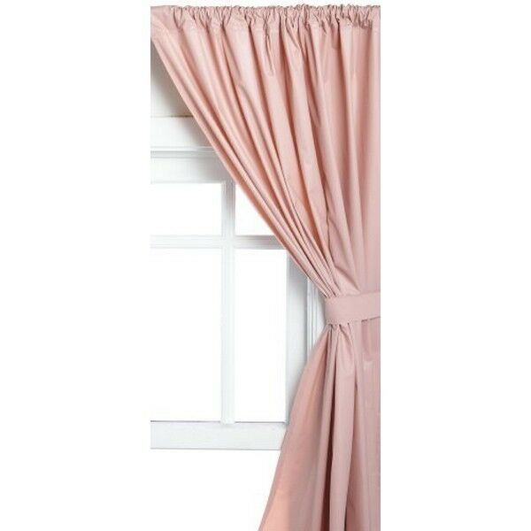 Carnation Home Fashions Vinyl Bathroom Window Curtain Rose 45in X 36in