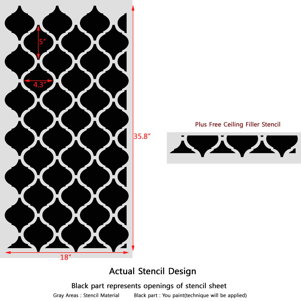 Wall Stencil Template Moroccan Pattern Casablanca for Walls and ...