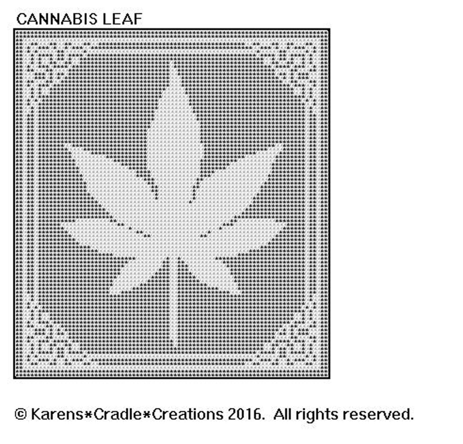 Cannabis Leaf - Filet Crochet Pattern | eBay