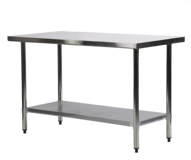 Commercial Kitchen Restaurant Stainless Steel Work Table 24 X 48 ...