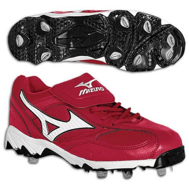 MIZUNO Red Nine Spike Vintage G5 Low Baseball Cleats Men\u0027s Size 15 ...