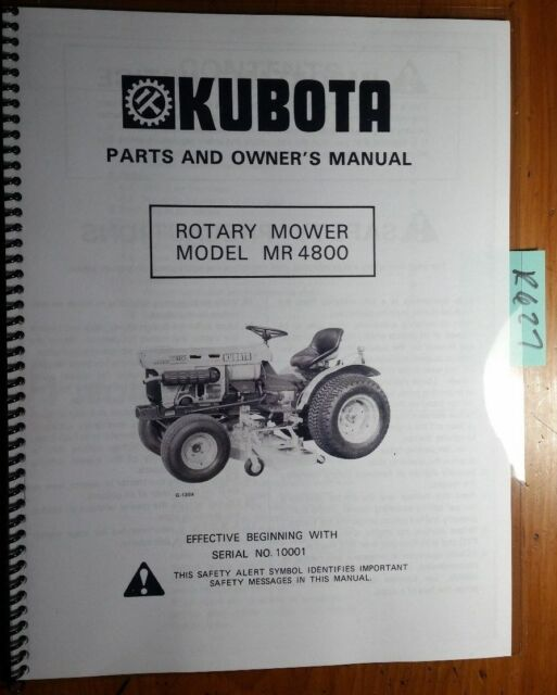kubota b6100hst b7100hst tractor operator s owner s manual ebay rh ebay com kubota tractor owners manual download kubota tractor owners manual online