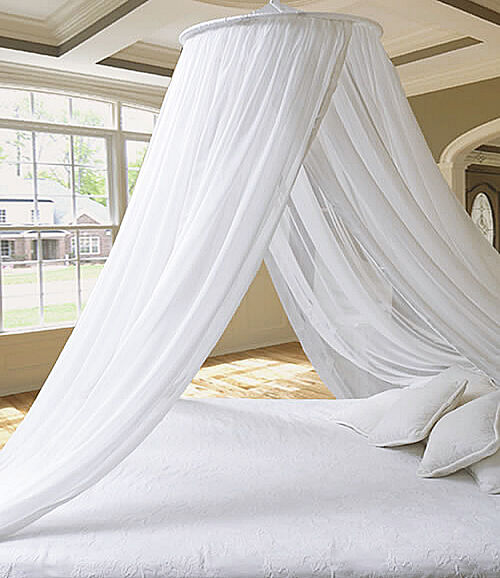 DREAMMA White Round Mosquito Net Princess Bed Canopy Bedroom Curtain Cover Gauze & DREAMMA White Round Mosquito Net Princess Bed Canopy Bedroom ...