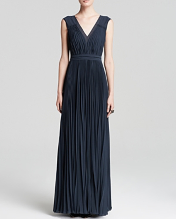 Rebecca Taylor Gray Gown 3156 Size 12 - Pleated (deep Teal) | eBay