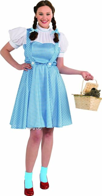 1 Pc WomenS Dorothy Costume Blue Xx-Large Includes Hair Bow Dress - Ages  sc 1 st  eBay & 1 PC Womens Dorothy Costume Blue Xx-large Includes Hair Bow Dress ...