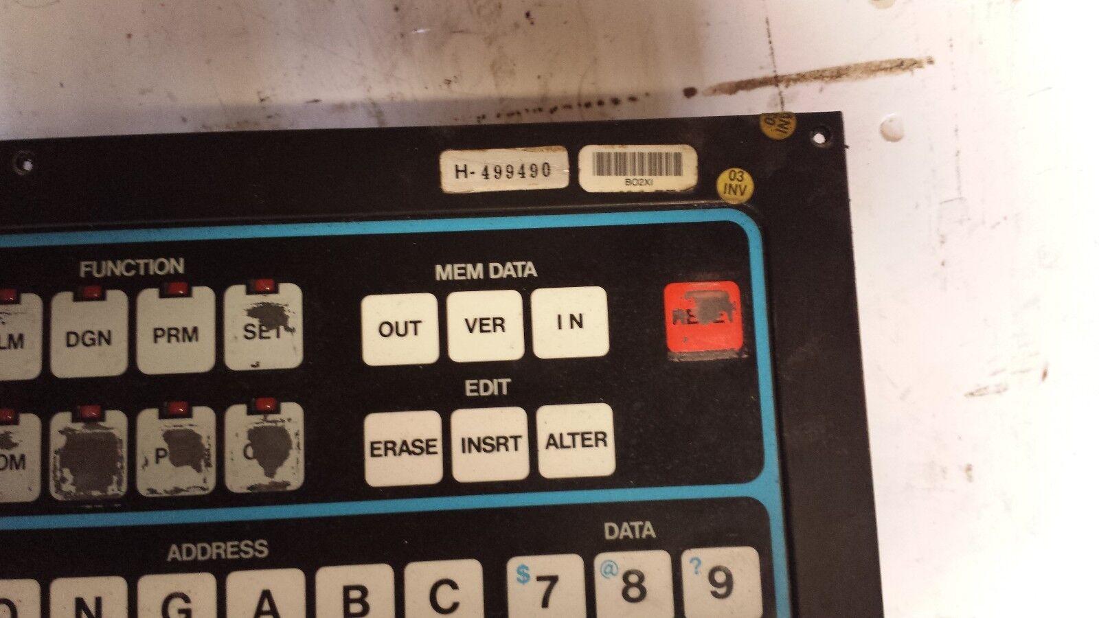 matsuura mc 1000v yasnac mx 1 operator panel h499490 ebay rh ebay com Yasnac MX3 Manual