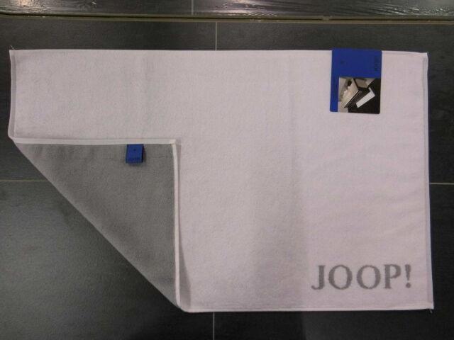 JOOP! Badematte Classic 1600 Badvorleger Badteppich Duschvorleger Fb.67 weiß