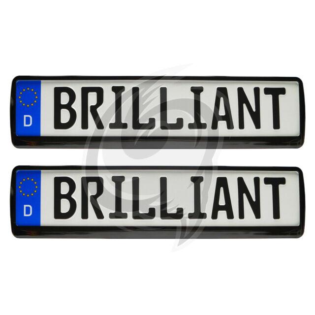 2x Brilliant Black License Plate Holder Alfa Romeo 33+145 +146+147 +75 +155 + GT