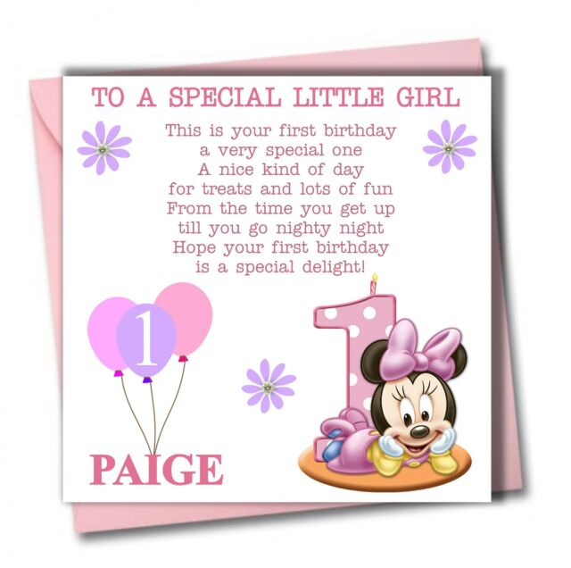Granddaughter Birthday Card – 1st Birthday Card Verses