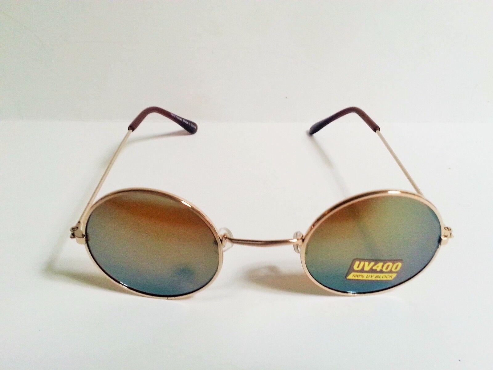 John Lennon Sunglasses Round Shades Gold Frame Multicolored Lenses ...