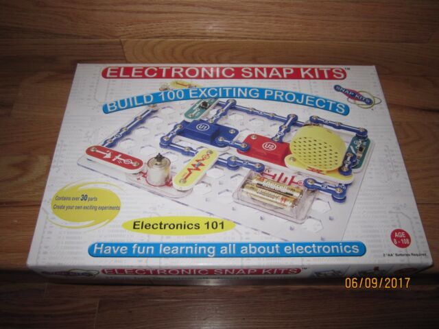 Snap Kits Electronics 101 Build 100 Exciting Projects Ages 8 - 108 ...