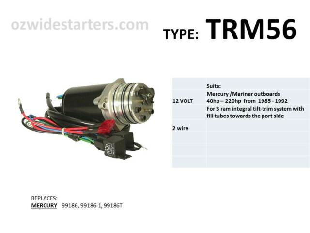 Mercury / Mariner  tilt trim motor. suits 40hp-220hp from 1985-1992 with 3 rams
