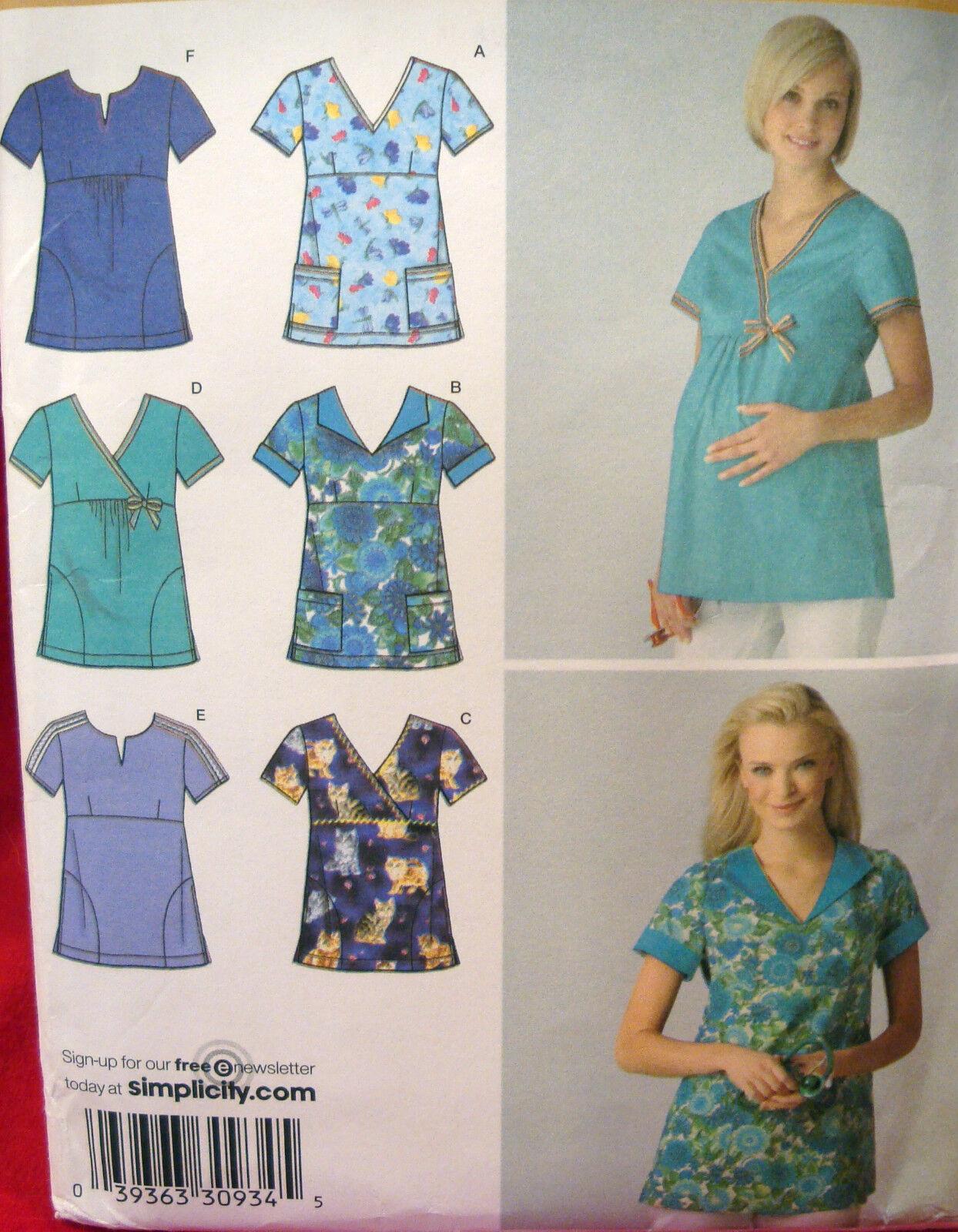 Scrubs sewing pattern misses maternity plus size uniform top picture 1 of 3 jeuxipadfo Choice Image