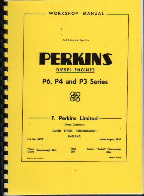 perkins diesel engine p3 p4 p6 workshop service manual